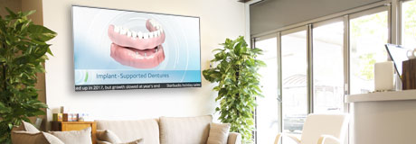 dental office with ADA TV