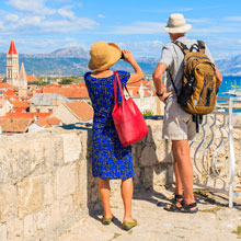man and woman sightseeing in Croatia